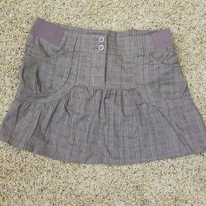 Maurices plaid brown skirt